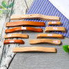 木制拉手 橡膠木橋型暗抽木把手 衣櫃抽屜木拉手定制