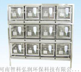 不锈钢冲洗式兔笼架