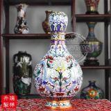 景泰蓝花瓶-10寸粉彩蒜头(A191003)