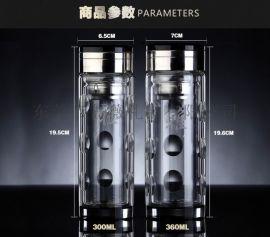 双层玻璃杯 厂家直销 批发玻璃杯 定制广告杯 礼品水杯logo