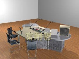 厂家直销播音桌电视台演播桌广播桌少儿播音桌钢木结构