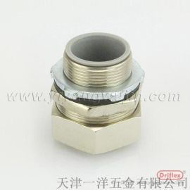 铜镀镍接头 电线电缆护线软管接头 带牙圈锁母