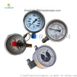 YNXC100ZT轴向带边电接点耐震压力表