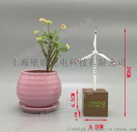 订制多功能风力发电机模型带液晶钟的风电模型工艺品