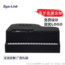 黑色钢琴蓝牙音箱 手机连接蓝牙音箱 便携带音箱