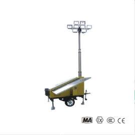 太陽能照明移動燈塔  氣動升降杆