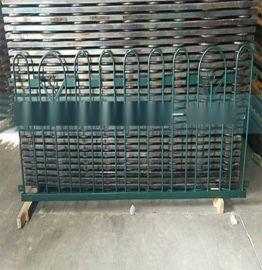 PVC材质篱笆护栏 社区塑钢围墙护栏锌钢草坪绿地防护栏杆