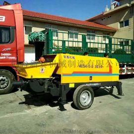 混凝土拖泵输送泵 烟台新赛混凝土泵 车载混凝土泵
