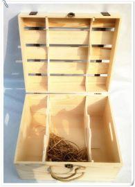 定制  木盒  箱 六支装  木盒子6只装  木箱葡萄酒礼品盒