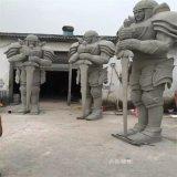 玻璃鋼戰士人物雕塑拍戲道具灰甲戰士雕塑