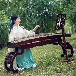 新品实木古筝架子立式琴架禅式仿古家庭通用培训班支架台湾琴腿桌