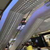 萬達廣場扶梯包柱鋁單板 烤漆包邊收口鋁單板 衝孔鋁單板幕牆