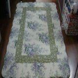 全棉綠花絎縫水洗被