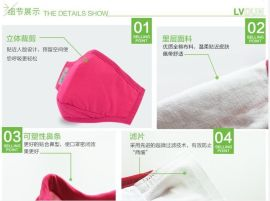 绿盾PM2.5口罩厂家货源抗菌防霾口罩