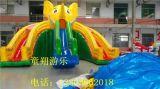 专业水上充气滑梯生产厂家公园热卖ts大型