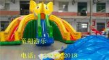 專業水上充氣滑梯生產廠家公園熱賣ts大型
