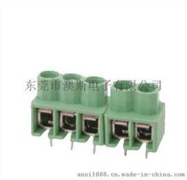 现货供应FS166-5.0MM间距绿色弹片式照明用端子台