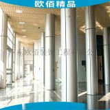 闪银包柱子铝单板 银灰色弧形包柱铝单板
