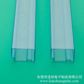 广东连接器料管厂家 不易卡料高透明度PVC包装管 厂家专业定做