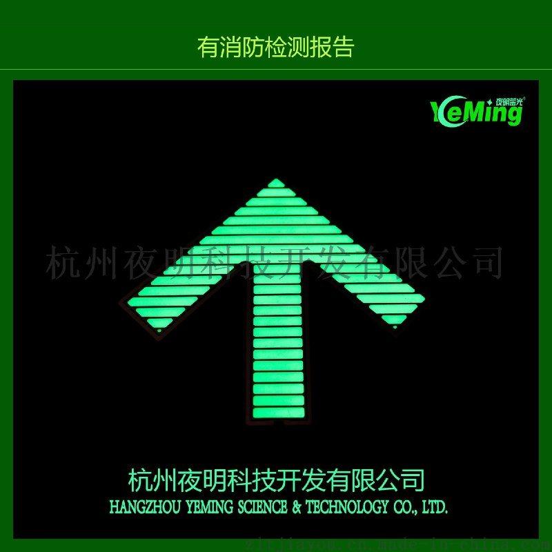 地铁夜光导向地面疏散标志 发光地贴地铁立面指示标示