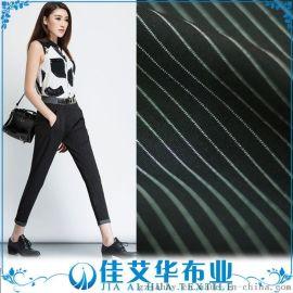 厂家直批 50支色织条罗马布 单面条纹 300克 **品质面料