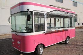 新款街景电动美食餐车售货车美甲车宣传广告车