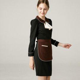 火锅咖啡店西餐厅餐饮酒店服务员工作服连衣裙长袖春装女制服定制