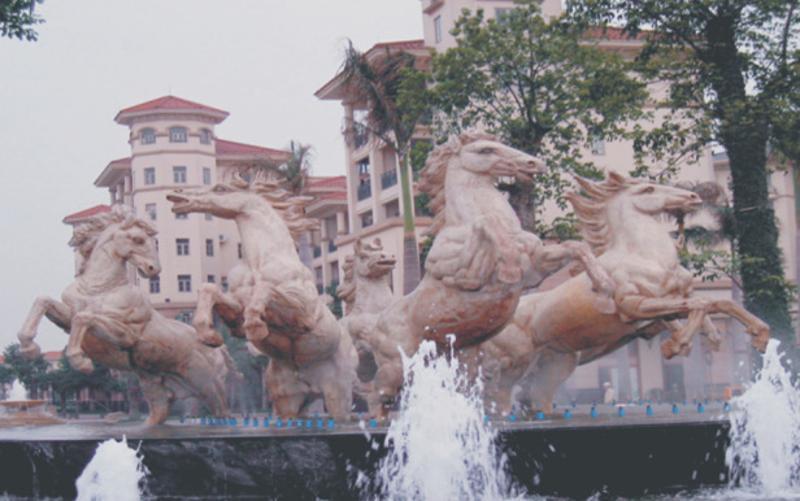 玻璃钢大型雕塑仿砂岩景观雕塑现代抽象雕塑