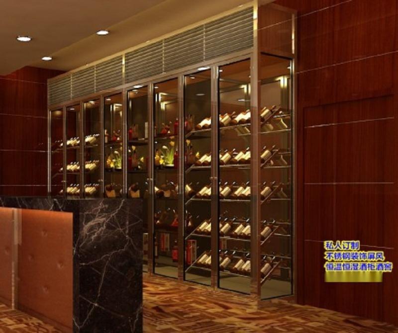 廠家直銷 恆溫恆溼紅酒櫃 質量從優可調節溫度酒櫃 酒櫃 定製加工