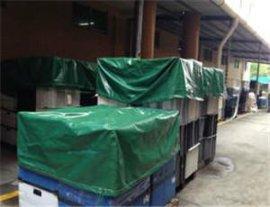 帆宇牌绿色盖货防水帆布现货定做批发 防雨布加工