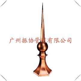 铜避雷针 铜防雷装饰 铜接闪针尖 铜塔尖