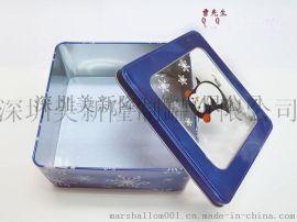开窗铁盒 开窗铁罐 圣诞礼品包装 **铁盒