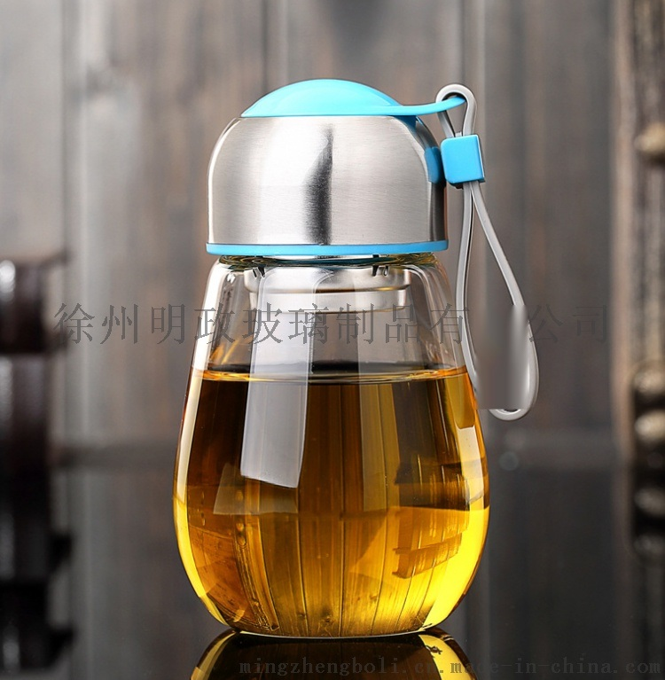 定制礼品玻璃杯水瓶呆萌企鹅杯过滤花茶杯情侣杯子可爱水杯学生