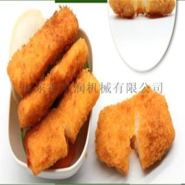 山东DR系列鳕鱼块上浆裹粉机  鱼块裹浆上粉设备