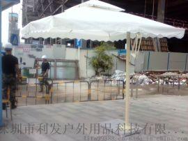 側立傘遮陽庭院傘大型戶外遮陽邊柱傘崗亭傘