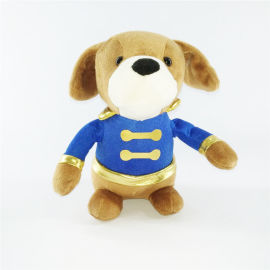 定制动物毛绒玩具企业吉祥物小狗公仔来图定做logo