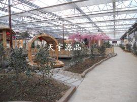 厂家设计施工温室餐厅 生态餐厅 生态园餐厅