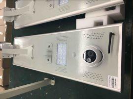 家用太阳能发电15Wled太阳能感应灯一体化太阳能路灯带摄像头
