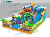 兒童大型遊樂充氣城堡價格 熊出沒款式按尺寸定做
