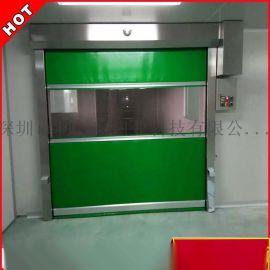 深圳厂家专业定制 工业快速门 PVC自动卷帘门 雷达地磁感应