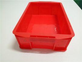 红色塑料箱塑料盒四川成都工具盒零件箱食品箱物流箱
