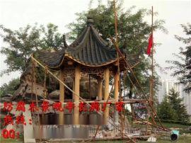 重庆景观TZ-4米六角木凉亭