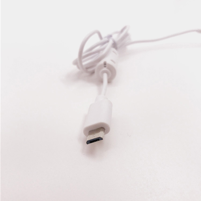 Micro 5P转SR细线 白色带磁环点读笔专用线