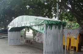 南宁带轮式折叠帐篷伸缩活动雨棚仓库帐篷汽车挡雨蓬