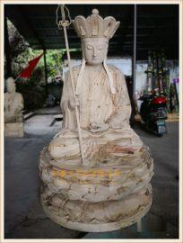zy1224浙江木雕佛像廠,木雕地藏王菩薩定做廠家