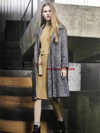 宠爱女人18冬时尚双面呢大衣便宜女装连衣裙厂家直销