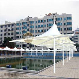 景观张拉膜游泳池雨棚 休闲凉亭景观蓬展览中心遮阳棚
