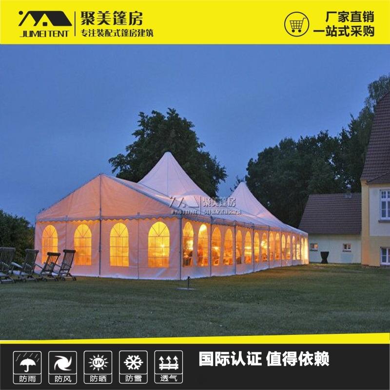 尖頂組合篷房,歐式婚慶戶外篷房,裝配式建築篷房