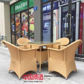 高端酒店户外编藤桌椅让您感受不一样的气氛
