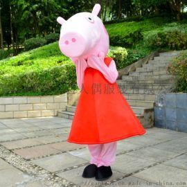 卡通行走人偶服饰赣州科尼行走卡通人物服装小猪佩奇